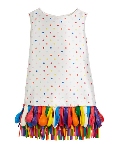 Elena Polka-Dot Sleeveless w/ Balloon Hem, Size 2-8