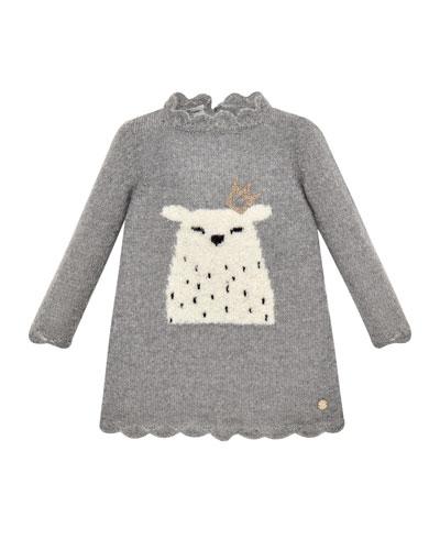 Long-Sleeve Polar Bear Sweater Dress  Size 2-6
