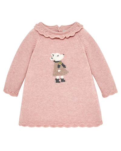 Mouse Intarsia Sweater Dress, Size 6M-2