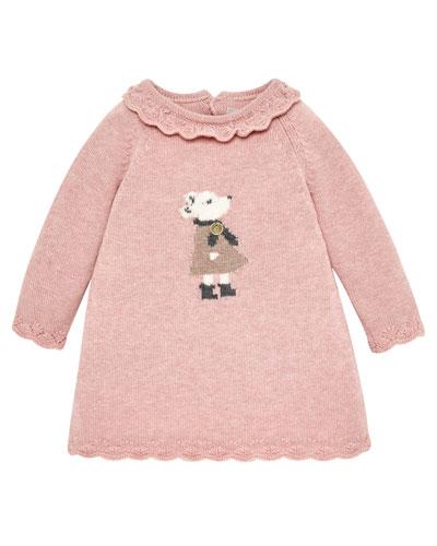 Mouse Intarsia Sweater Dress  Size 6M-2