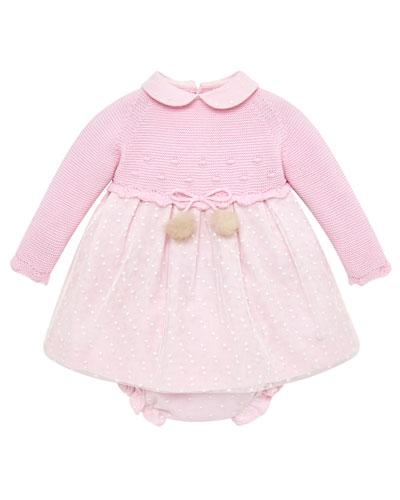 Knit Sweater Dress w/ Matching Bloomers, Size 3M-2