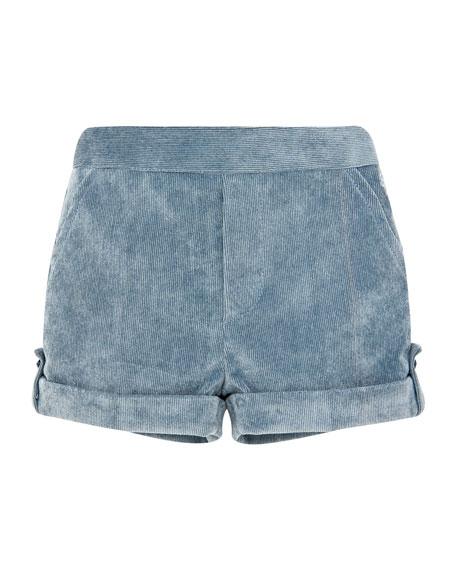 Pili Carrera Corduroy Rolled-Cuffs Shorts, Size 6M-3