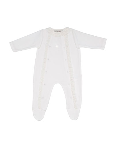 Ruffle & Lace Footie Pajamas, Size 1-6 Months