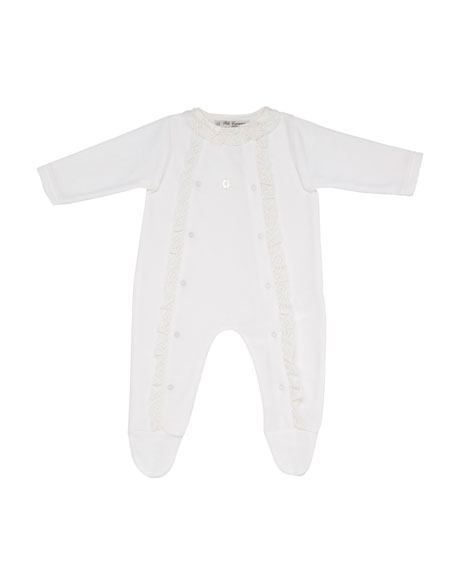 Ruffle & Lace Footie Pajamas, Size 1 6 Months by Pili Carrera