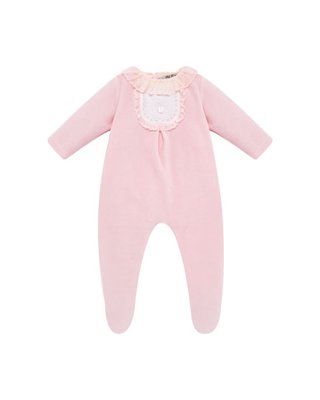 Pili Carrera Ruffle-Trim Footie Pajamas, Size 1-6 Months