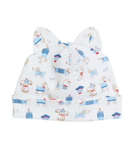 Kissy Kissy Cozy Pups Pima Baby Hat w/