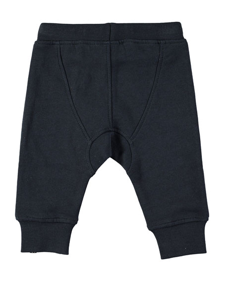 Cotton-Blend Drawstring Sweatpants, Size 6-24 Months