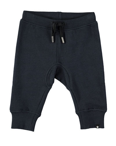 Cotton-Blend Drawstring Sweatpants, Size 6-24 Months