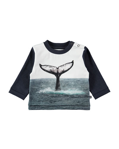 Enovan Whale Tail Long-Sleeve Tee, Size 6-24 Months
