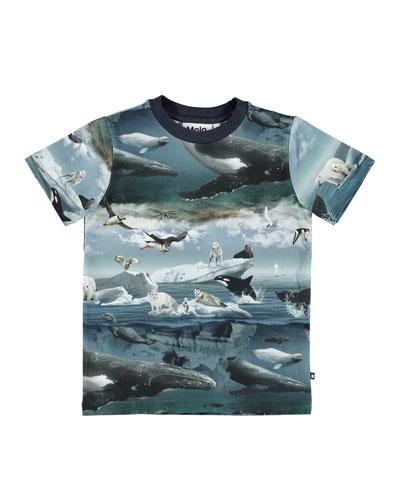 Ralphie Arctic Landscape Short-Sleeve Tee, Size 4-10