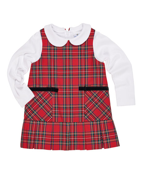 Florence Eiseman Tartan Plaid Jumper w/ Peter Pan-Collar