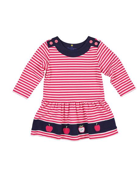 Florence Eiseman Striped Interlock Knit Apple Dress, Size