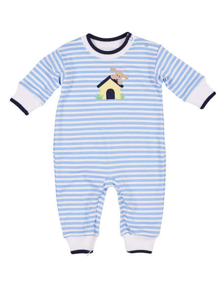 Florence Eiseman Striped Dog House Coverall, Size 3-12