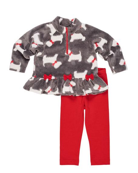 Florence Eiseman Scottie Dog Fleece Top w/ Solid