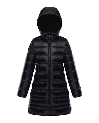 Suyen Hooded Long Puffer Coat, Sizes 8-14