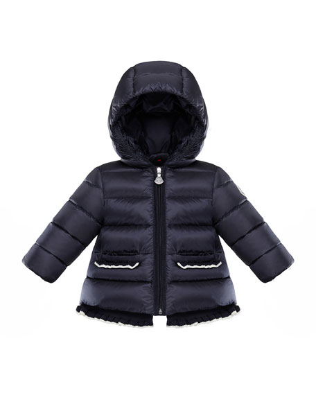 Temoe Crochet-Trim Hooded Puffer Jacket, Size 12M-3