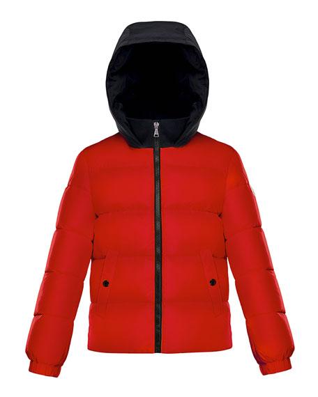 Moncler Arthon Two-Tone Hooded Jacket, Size 8-14