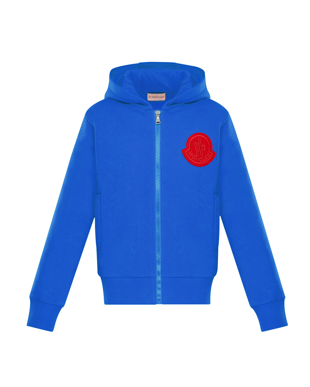 7b1d252706e9 Moncler Zip-Up Hoodie w  Contrast Logo