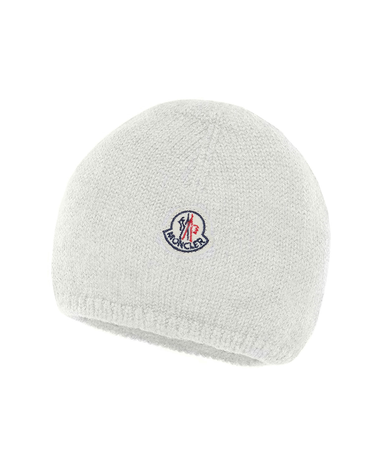 0ffb8b76b1c Moncler Kids  Logo-Patch Knit Virgin Wool Beanie Hat