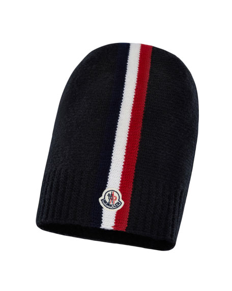 Moncler Kids' Striped-Trim Beanie Hat
