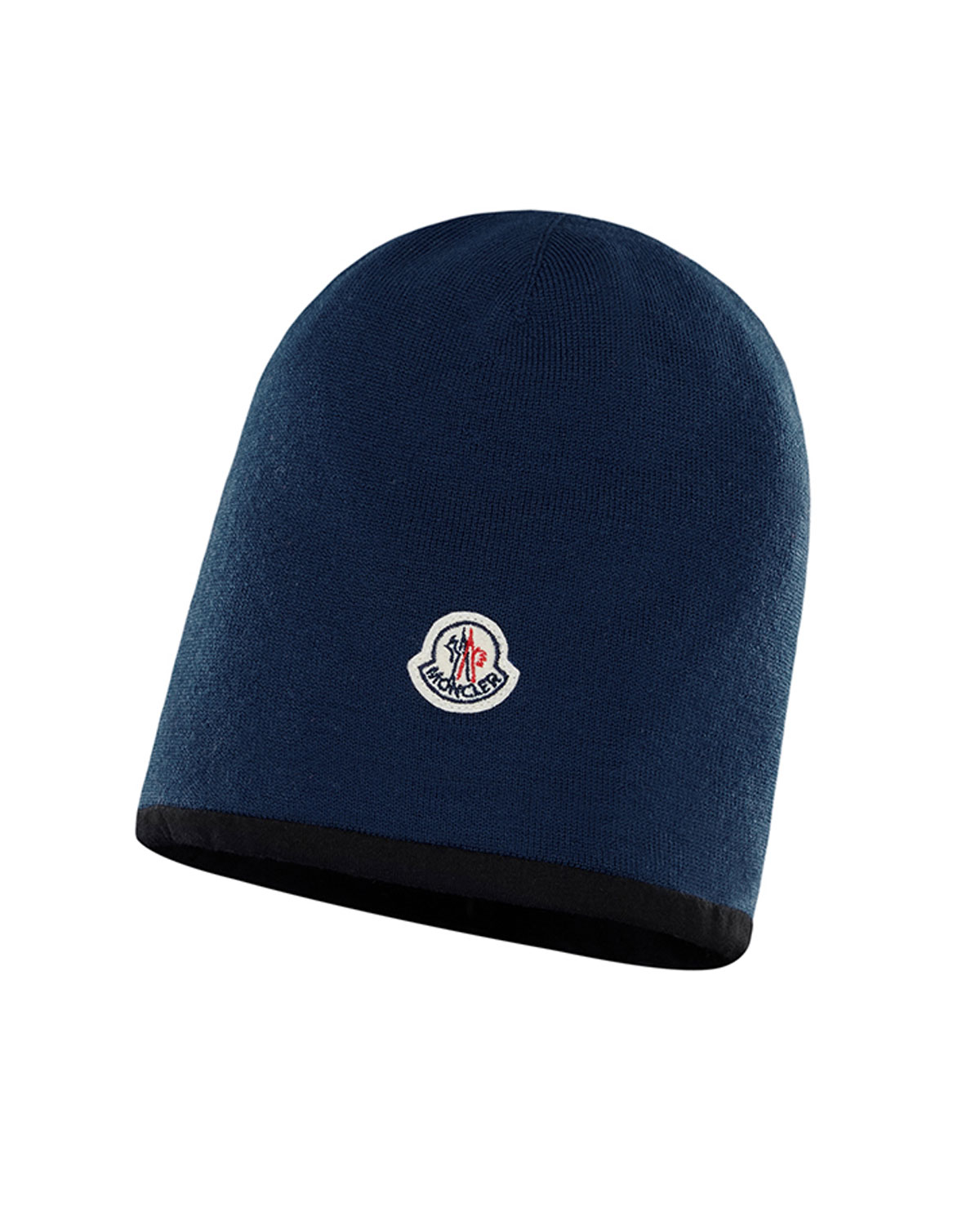 Moncler Kids  Virgin Wool Beanie Hat w  Logo Patch  b6708d06ec9