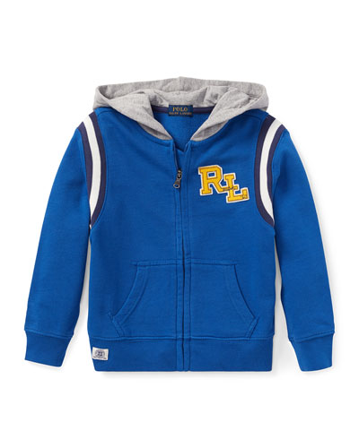 Hooded Logo Zip-Up Jacket, Size 2-4
