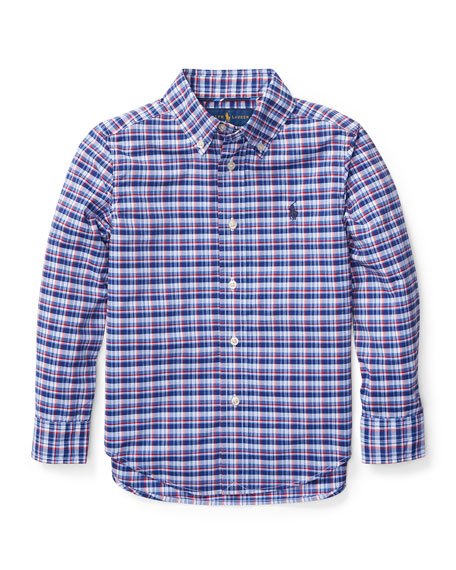 Ralph Lauren Childrenswear Long-Sleeve Plaid Button-Down Shirt,