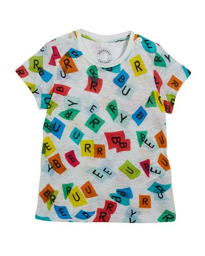 Confetti Logo-Print Short-Sleeve Tee, Size 6M-3