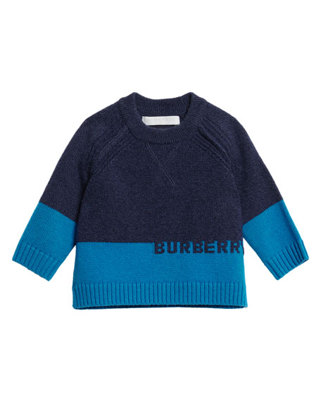 Alister Colorblock Cashmere Sweater, Size 12M-3