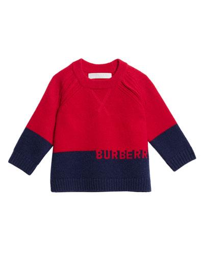 Alister Colorblock Cashmere Sweater  Size 12M-3