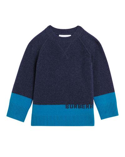 Alister Colorblock Cashmere Sweater, Size 4-14