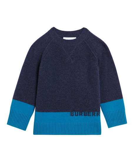 Alister Colorblock Cashmere Sweater, Size 4-14