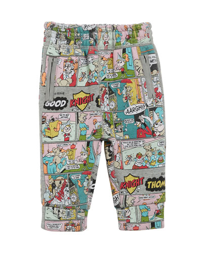 Comic Graphic Print Sweatpants, Size 12M-3
