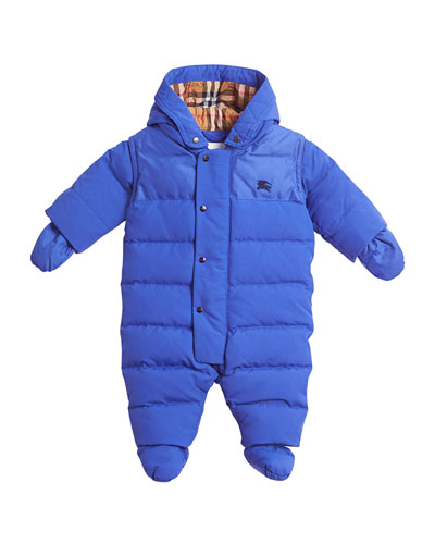 Ezra Hooded Puffer Snowsuit  Size 6-18 Months