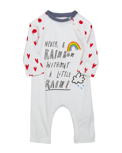 Tomas Rainbow & Hearts Coverall, Size 3-18 Months