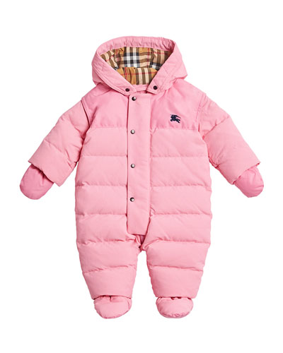 Ezra Hooded Puffer Snowsuit, Size 6-18 Months