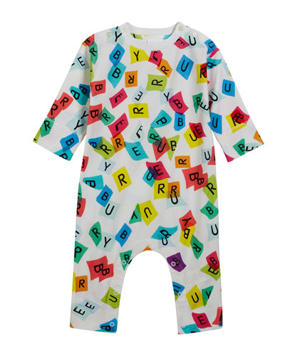 Confetti Logo-Print Coverall, Size 3-18 Months