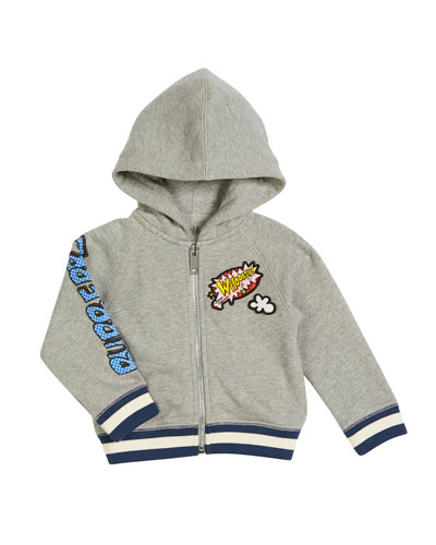 Manning Cartoon Hooded Jacket, Size 12M-3