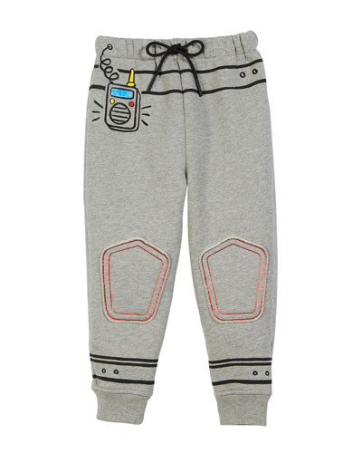 Space Graphic Sweatpants, Size 4-10