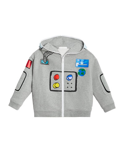 Space Robot Graphic Jacket, Size 4-10