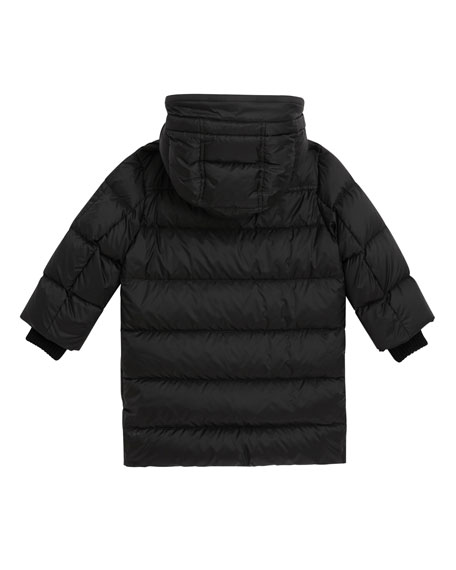 Birton Quilted Long Coat, Size 4-14
