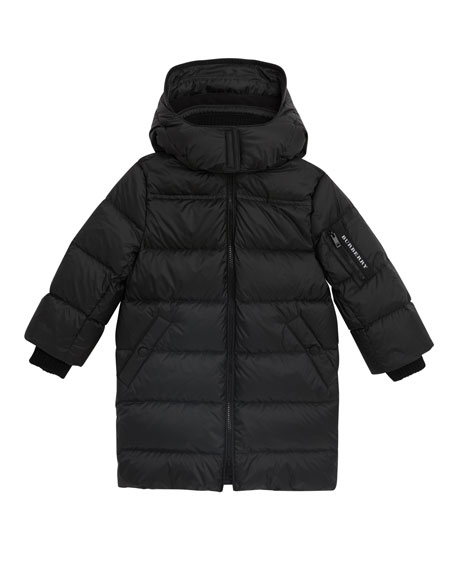 Burberry Birton Quilted Long Coat, Size 4-14