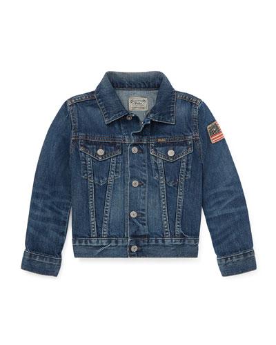 Denim Trucker Jacket, Size 5-7