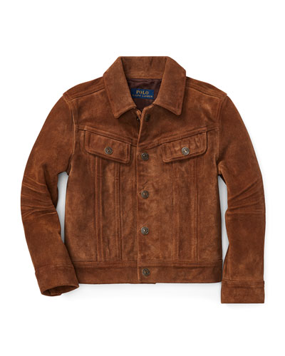 Suede Trucker Jacket, Size 2-4