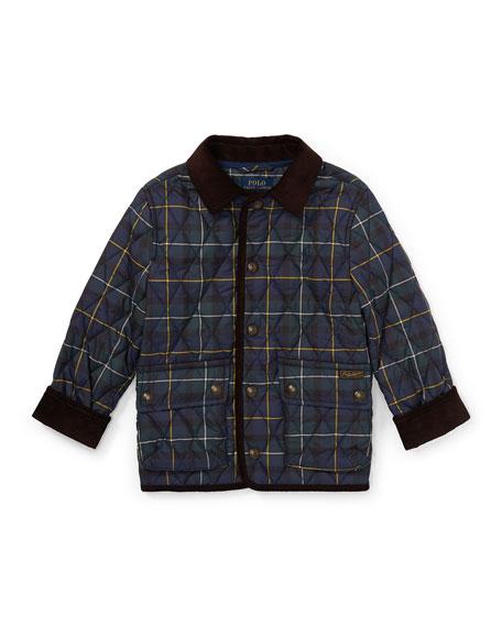 Ralph Lauren Childrenswear Kempton Quilted Plaid Jacket, Size