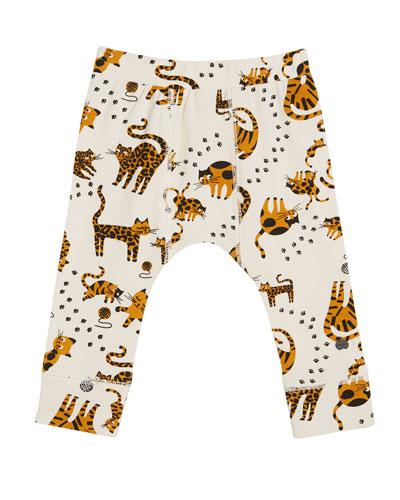 Kazam Cat-Print Leggings, Size 0-24 Months