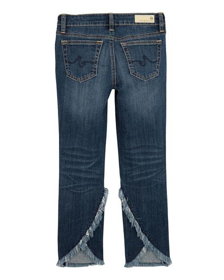 Jessa Fringe-Trim Skinny Jeans, Size 7-14