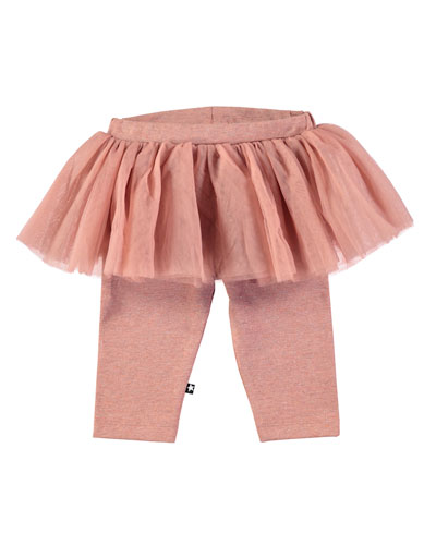 Sus Leggings w/ Tulle Skirt, Size 6-24 Months