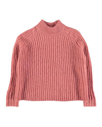Gertrude Mohair-Blend Sweater, Size 3T-12