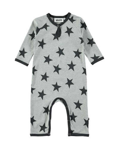 Fleming Star-Print Coverall, Size 3-12 Months